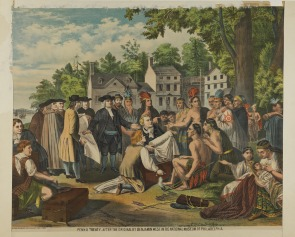 Penn's Treaty, after the original by Benjamin West in the National Museum of Philadelphia. Image provided by Historical Society of Pennsylvania
