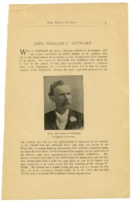 Hon. William F. Stewart, Chairman Committee. Image provided by Historical Society of Pennsylvania