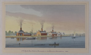 T. W. Dyott's Glass Works at Kensington on the Delaware, Philadelphia, PA. Image provided by Historical Society of Pennsylvania