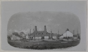 Dyottville Glass Works. Image provided by HSP