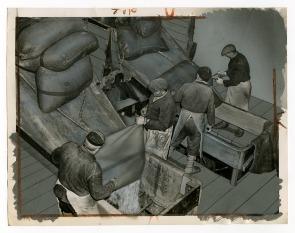 Pennsylvania Sugar Company, Dumping Stools. Image provided by Historical Society of Pennsylvania