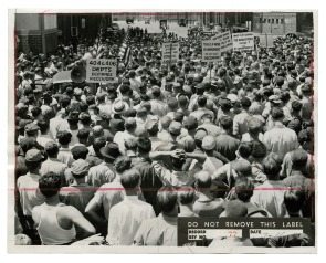 [Cramp's Shipyard employee protest]. Image provided by Historical Society of Pennsylvania