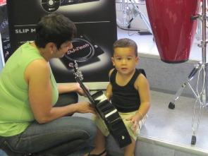 Cristina Gonzalez with little boy