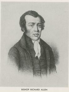 Portrait of Richard Allen. Image provided by Historical Society of Pennsylvania