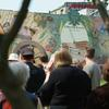 Tour group at Liberty Lands Park mural. Image provided by Historical Society of Pennsylvania