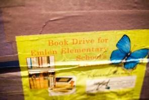 Emlen Elementary School Book Drive Poster