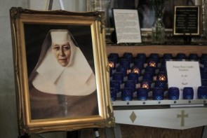 Mother Kathartine Drexel shrine at St. Thomas Aquinas Church
