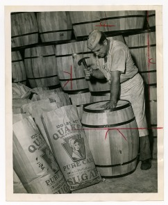 Pennsylvania Sugar Company, Right Hand Nailed Ring Foes, Now it Nails on Barrel Lids. Image provided by Historical Society of Pennsylvania