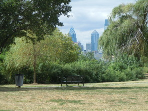 Penn Treaty Park with Center city skyscrapers in the background