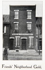 Friends Neighborhood Guild building, 151 Fairmount Ave.. Image provided by Historical Society of Pennsylvania
