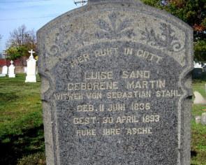 St Peter's Cemetery -- Grave closeup