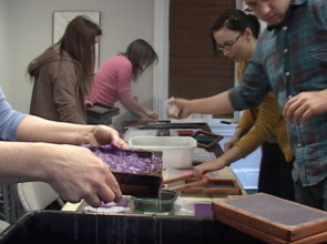 RittenhouseTown papermaking workshop