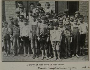 A Group of boys of the Guild. Image provided by Historical Society of Pennsylvania