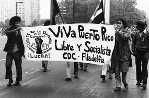 Puerto Rican Day parade. Image provided by Temple University Urban Archives