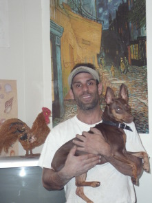 "Armen ""Gooch,"" Terzian with his dog, Mongo"