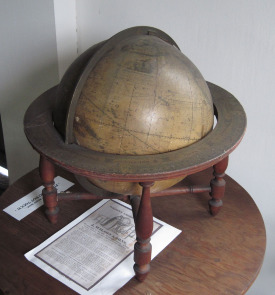 This globe dates to the 19th century