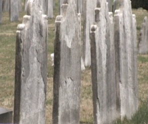 Acid rain is one of the reasons why preserving the gravestones is that much more difficult.