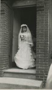 Our Lady of Angels May Queen, May Procession circa 1950.