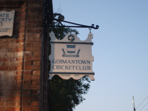 The Germantown Cricket Club Sign