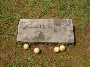 Bill Tilden's gravestone, Ivy Hill Cemetery