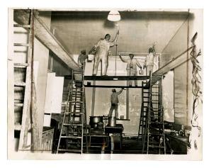 Painting kitchen at Men's Nervous Ward