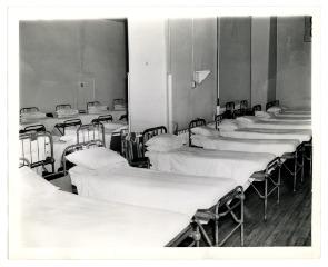 Hospital beds at Philadelphia General Hospital