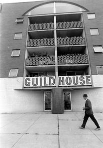 Guild House entrance. Image provided by Temple University Urban Archives