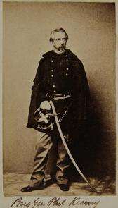 Brigadier General Philip Kearny. Image provided by Historical Society of Pennsylvania