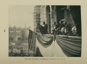Theodore Roosevelt Addressing Students at C.H.S.