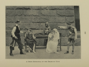 A Dress Rehearsal of the Dramatic Club