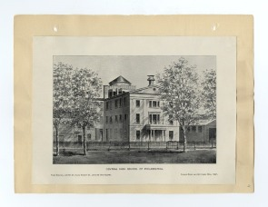 An Illustration of the Original Building of Central High School