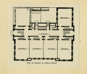 Floorplan of the Chester A. Arthur School