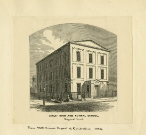 Girls' High and Normal School on Sergeant Street