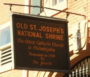 The Sign of Old Saint Joseph's
