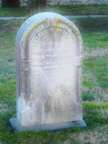 An Antique Headstone in St. Michael's Cemetery