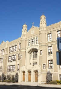 The Front Facade of the West Philadelphia Catholic High School