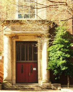The Main Entrance of The Gen. George A. McCall School