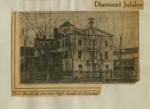 The First Building of the Central High School of Philadelphia