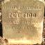 Headstone of the Ryerss' beloved dog, Fido