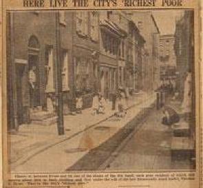 Newspaper Photo of Elfreth's Alley