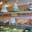The cake and pastry case at Bredenbecks Bakery