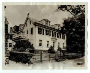 A photograph of the Pastoirus House at 25 High Street in Germantown Philadelphia PA