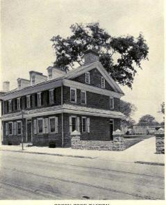 A photo of the Green Tree Tavern in 1748 from Chelten Collection donated to the historical society in 1976.
