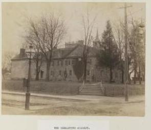 A photograph of Germantown Academy on 100 West SchoolHouse Lane in Germantown, Philadelphia PA around 1890