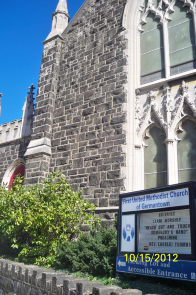 A view of the main sanctuary from Germantown Avenue