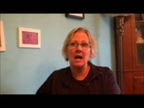 A still of Karen H. Boyd-Rodhe during an interview on 11/16/12