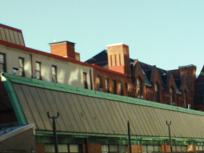 A photo of the top of the dorms at former location of Pennsylvania School for the Deaf