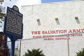 Salvation Army and Historical Marker. Image provided by Historical Society of Pennsylvania