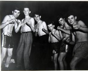 Boys boxing, the Lighthouse. Image provided by Historical Society of Pennsylvania