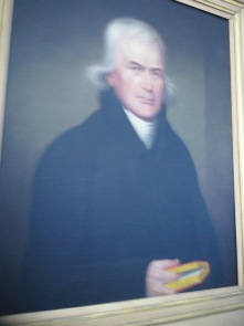 A portrait of Francis Asbury at historic St. George's